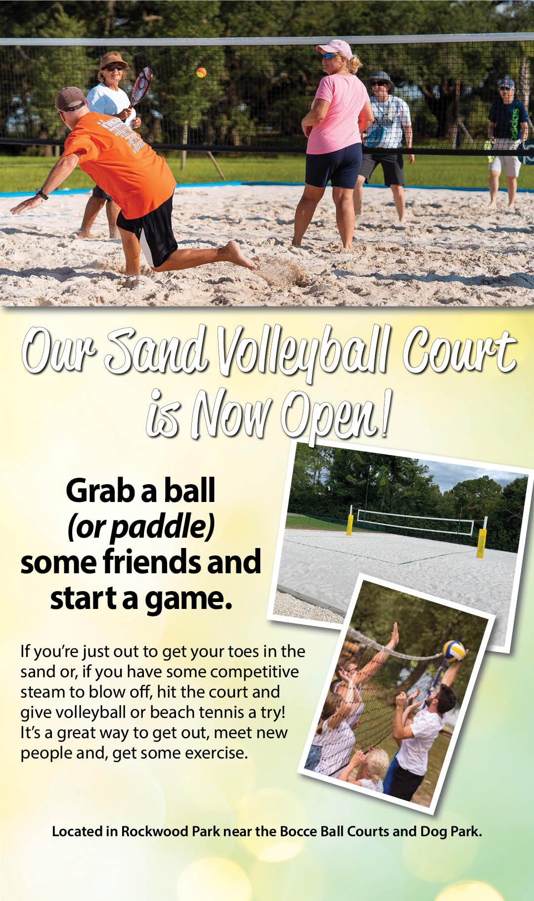Sand Volleyball Court Now Open Kiosk