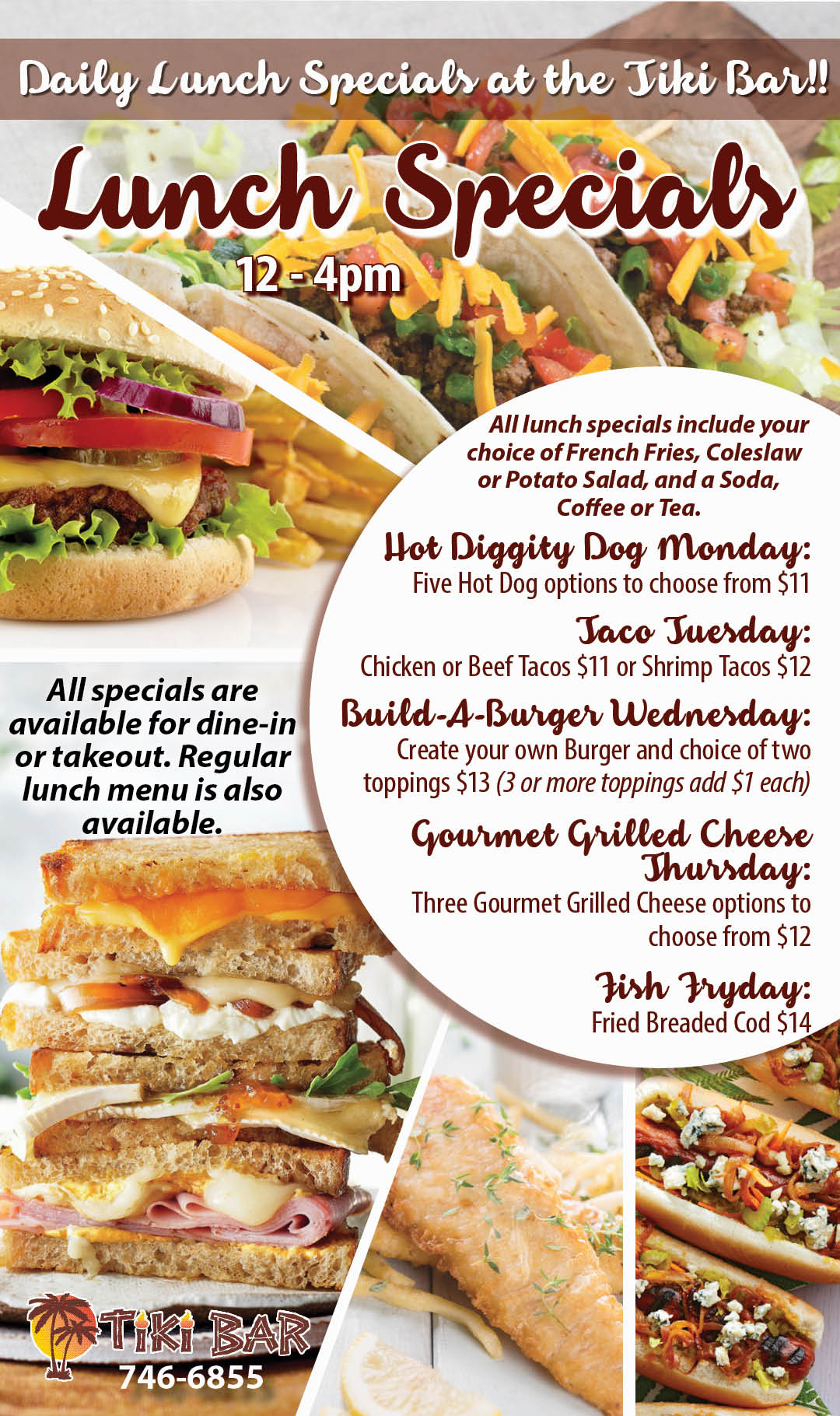 Tiki Lunch Specials June 2021 Kiosk